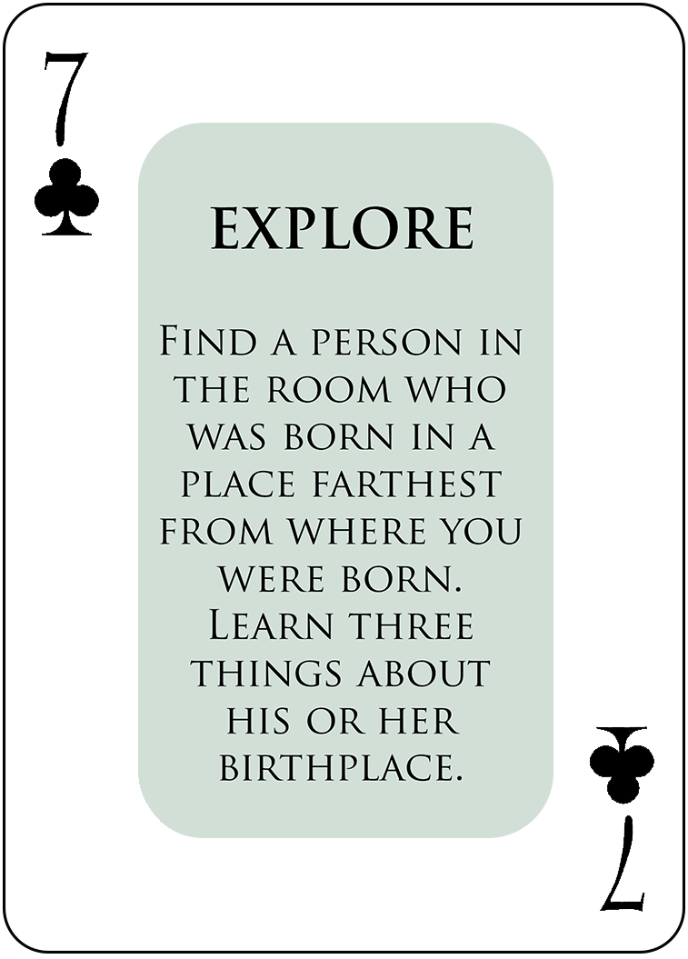 A Sample EXPLORE Card
