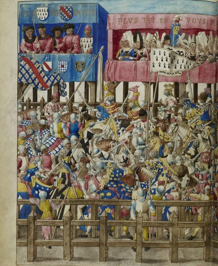 Rytiersky turnaj v roku 1401 v nemeckom meste Schafhausen.