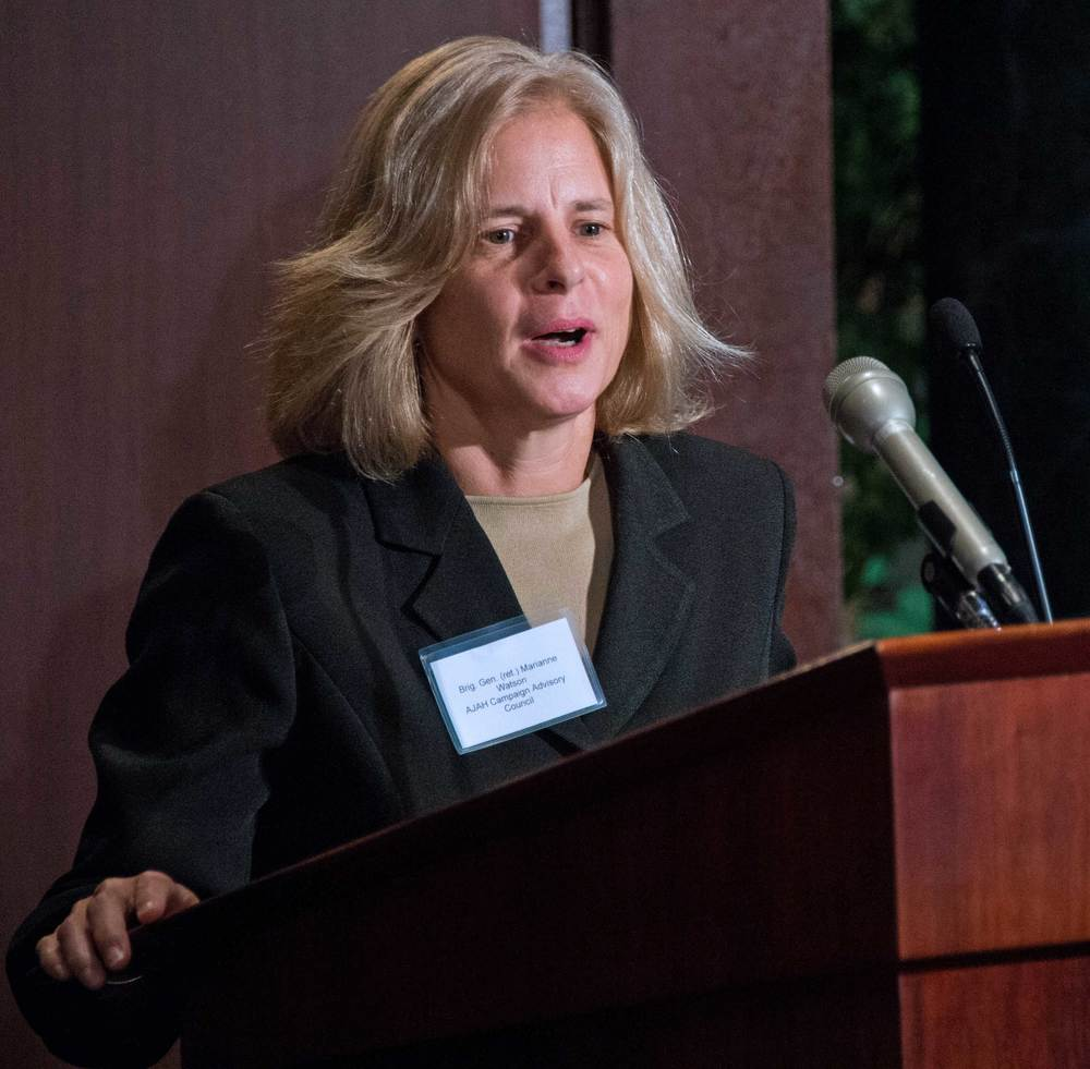 Brigadier General (ret) Marianne Watson, former Director of Manpower and Personnel (J-1), National Guard Bureau