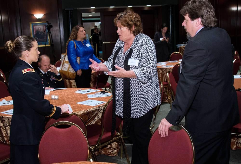Major Neely Mahoney, North Carolina National Guard; Sue Roberson and Matt Young, Manpower to Horsepower