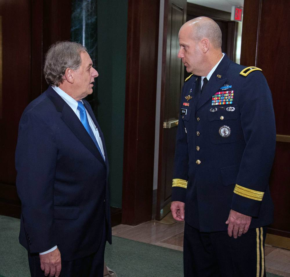 Steve Nowlan, Center for America and Brigadier General Ivan Denton, National Guard Bureau
