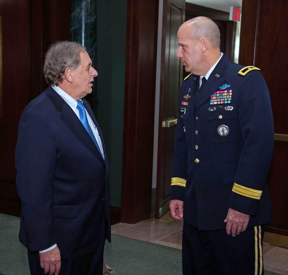 Steve Nowlan, Center for America and Brigadier General Ivan Denton, National Guard Bureau