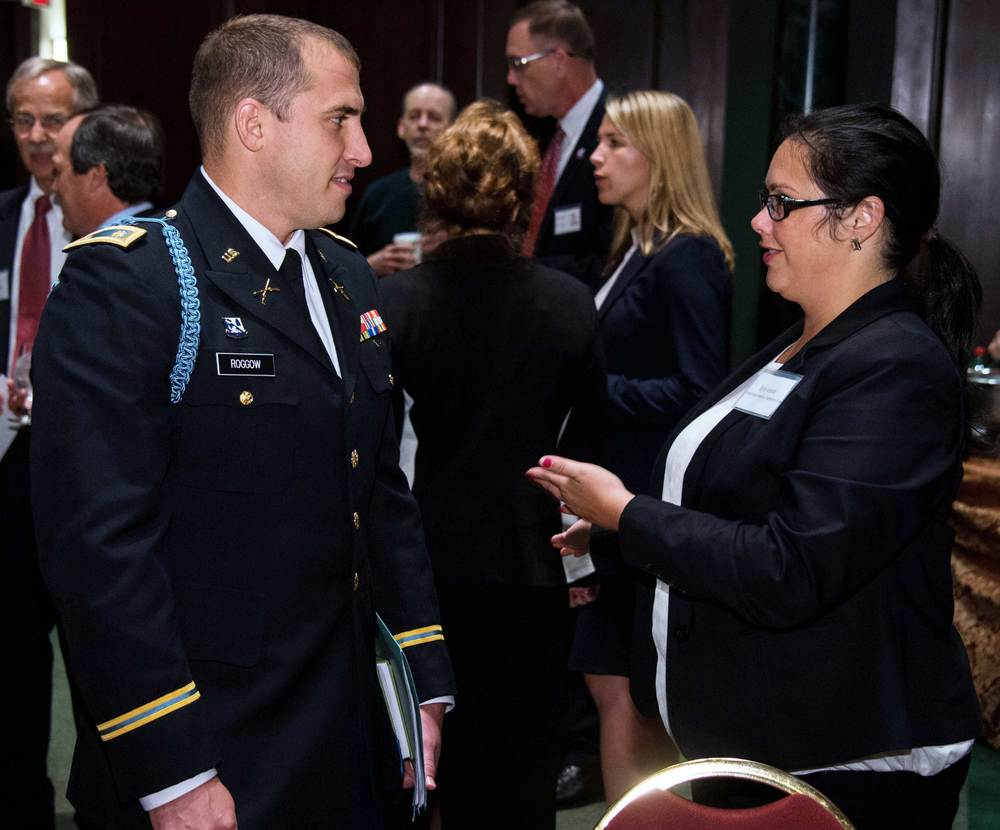 Major Aaron Roggow, California National Guard and Erin Voirol, Corporate America Supports You