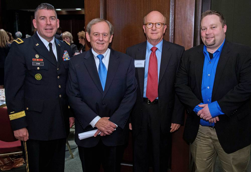 Brigadier General Michael Stone, Michigan National Guard; Steve Nowlan, Center for America; Jim Lamback, National Guard Bureau; Rob Blackwell, MI Governor Snyder's Washington Office