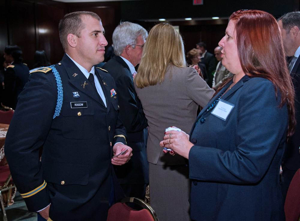 Major Aaron Roggow, California National Guard and Ann Conyers, U.S. Department of Defense