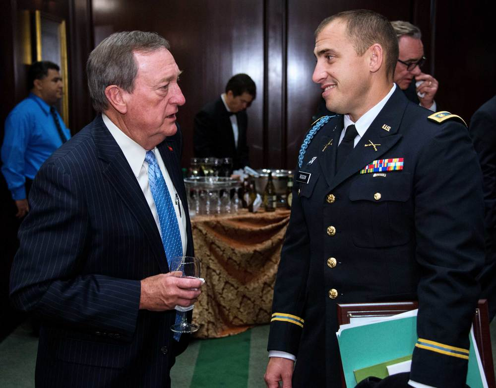 Major General (ret) Gus Hargett, National Guard Association of the United States, and Major Aaron Roggow, California National Guard