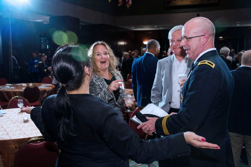 Erin Voirol, Stacy Bayton and Rear Admiral (ret) Dan Kloeppel, CASY; Brigadier General Kenneth Beard, North Carolina National Guard
