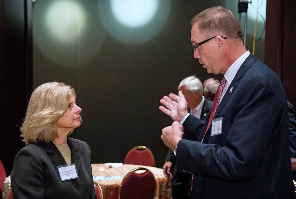 Brigadier General (ret) Marianne Watson, American Jobs for America's Heroes and Michael Griffin, National Guard Youth Foundation