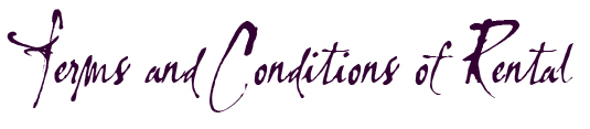 terms and conditions of rental