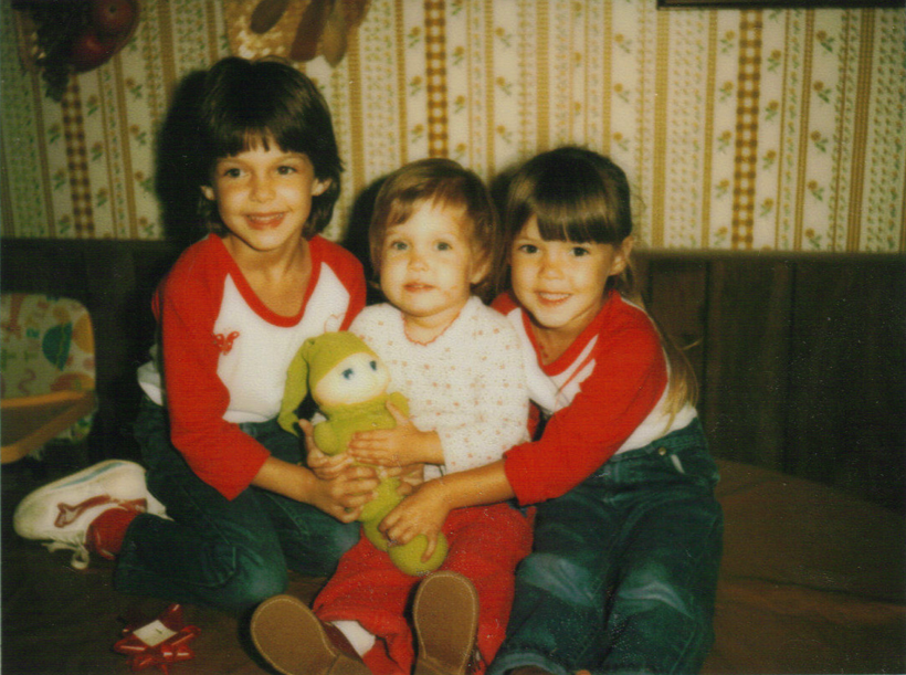 1983: With my sisters