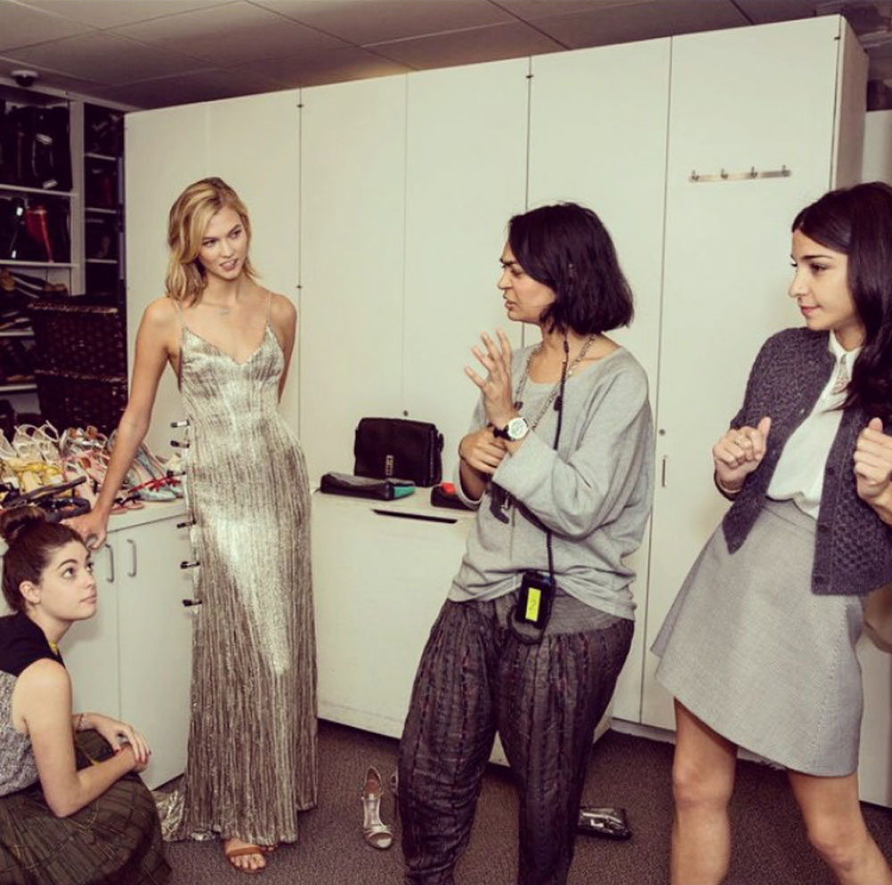 Inside the Vogue closet with normal people and a supermodel.