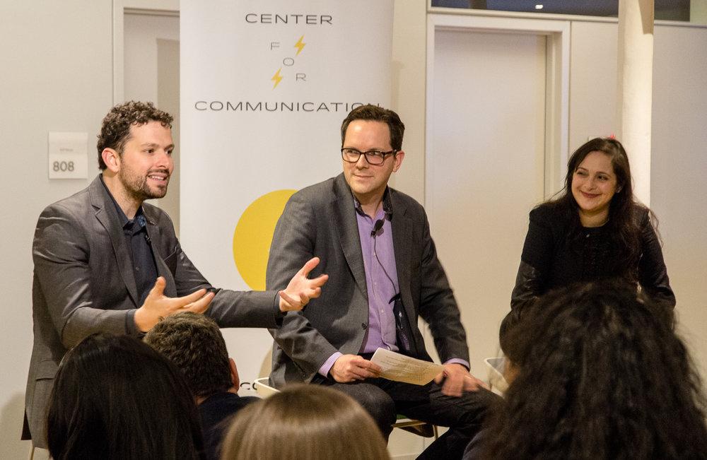 Andrew Fitzgerald (Twitter), Brendan Cahill (Penguin Random House) and Valerie Streit (Google) - 3/2/17