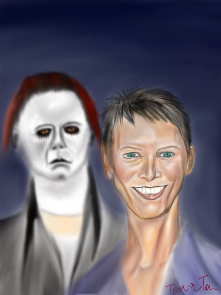 Jamie Lee Curtis and Michael Myers