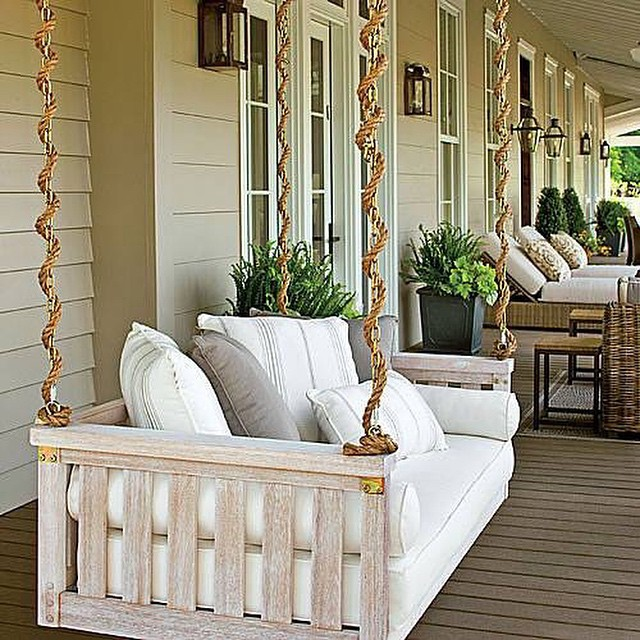 "This looks pretty dreamy to us too. Repost from @southernlivingmag ""In our dreams, this is where we'd spend each and every morning. (Photo: @laureywglenn) #SL #porches"" #LakesideAlabama #SmithLake #LakeLife #liveoutside"