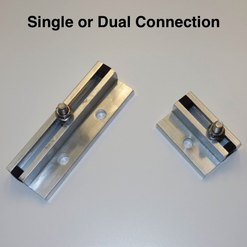Single connection is your cost effective solution or meet local code requirements with the dual connection