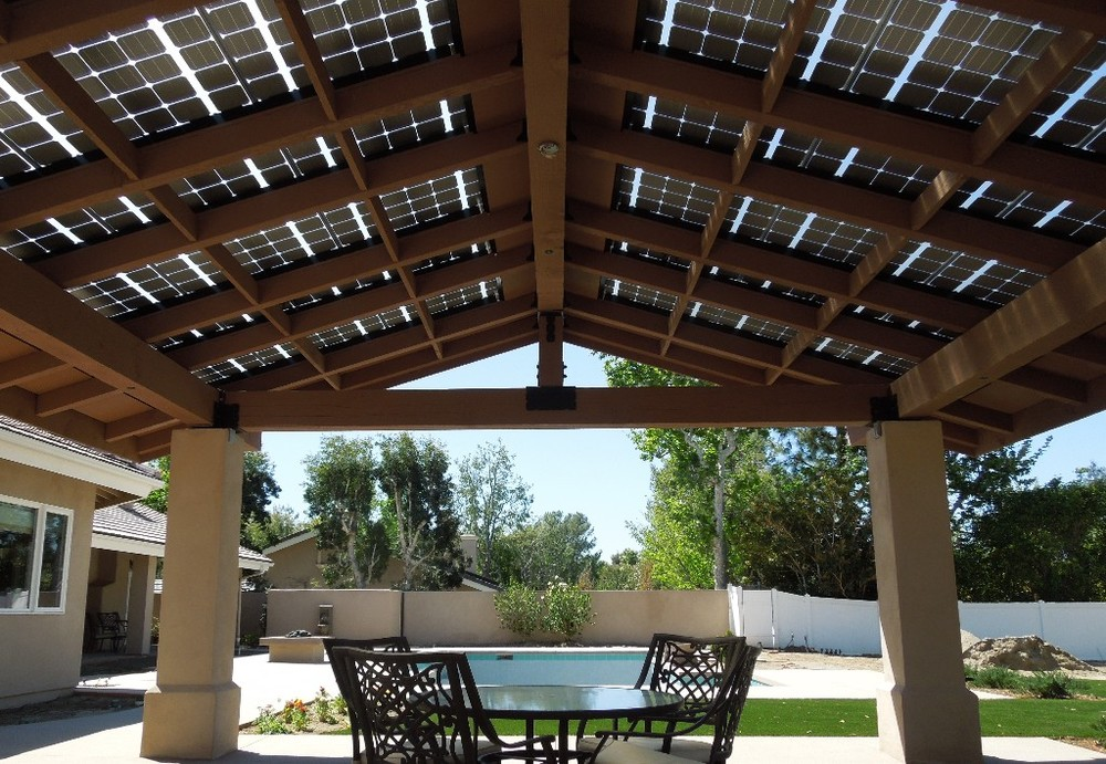Marvelous Talk About Seamless Integration Of LSX Frameless Solar Panels! This  Beautiful Backyard Patio Has LSX As Part Of The Roof Itself. To Achieve  This Custom, ...