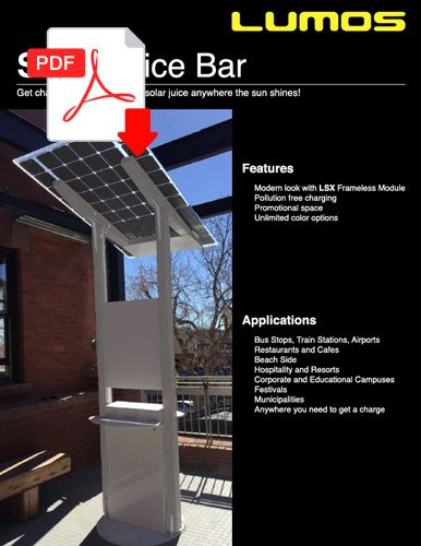 Solar Juice Bar Spec Sheet