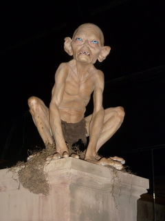 A wax statue of Gollum