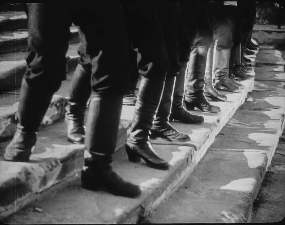 Boots on the Odessa steps from the Battleship Potemkin film