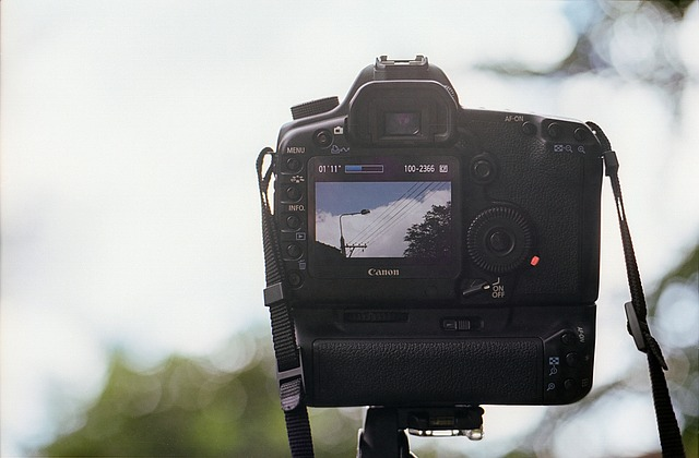 A digital camera being used to record video