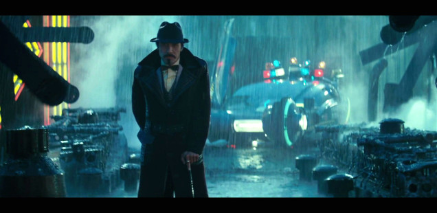 A rainy scene from Blade Runner