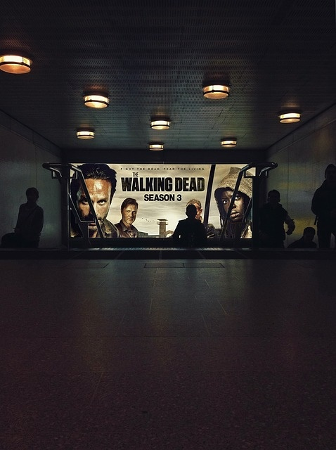 Walking dead advert at the cinema