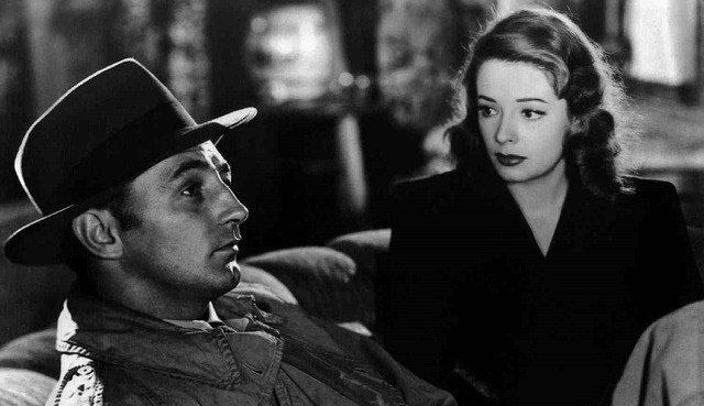 Robert Mitchum and Jane Greer