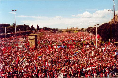 mobilitazione in difesa dell'art. 18, Circo Massimo, Roma, 23marzo 2002