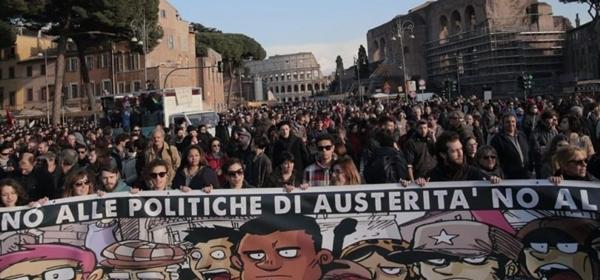 il corteo #MaiConSalvini di Roma del 28 febbraio 2015