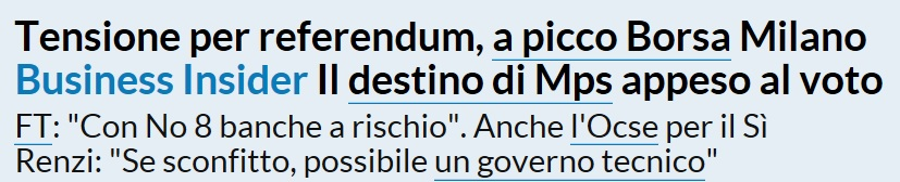 La Repubblica on line del 28 novembre 2016
