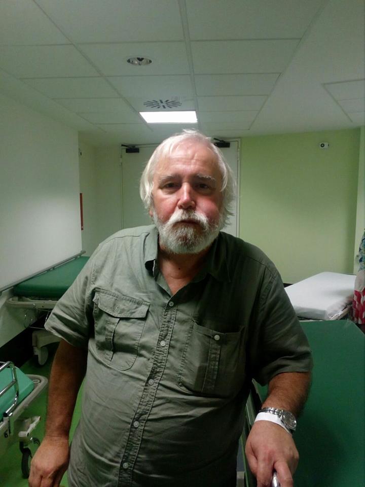 Santino, dopo l'aggressione (foto di Roberto Maggioni). L'audio del suo racconto lo potete trovare qui
