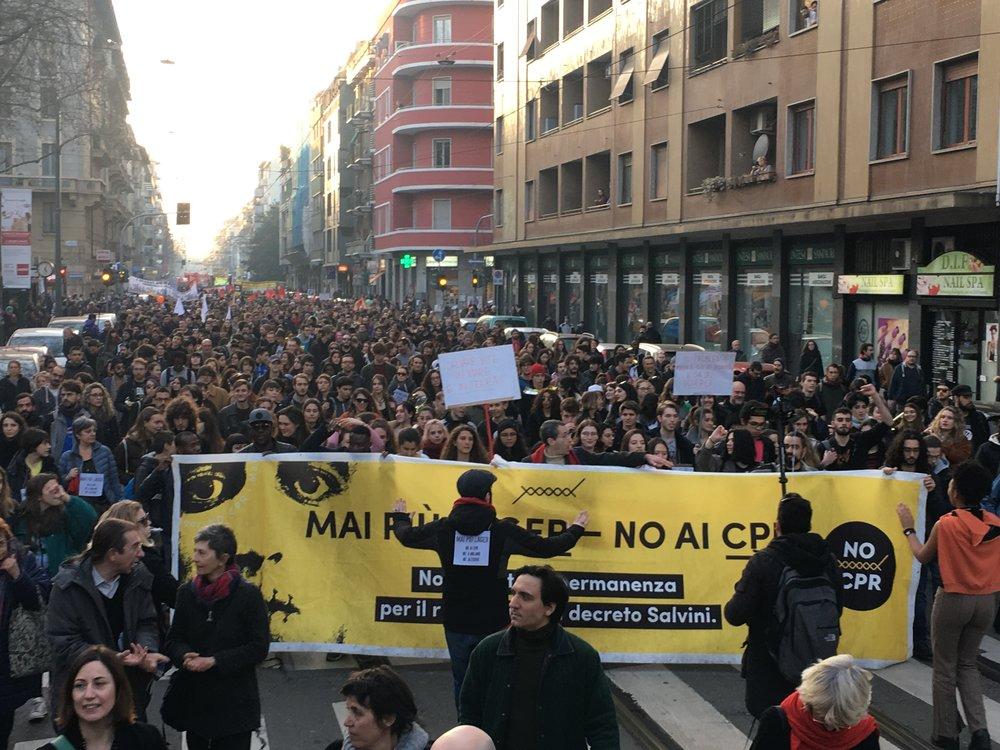 Corteo NoCpr, Milano, 16 febbraio 2019