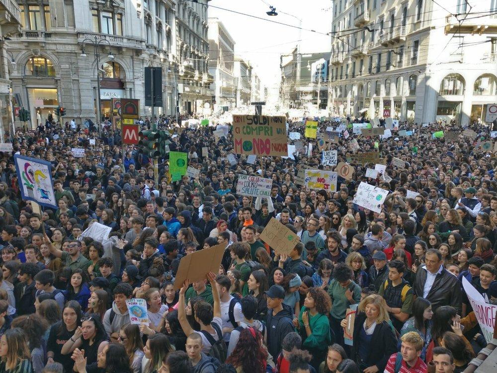 Sciopero per il clima, Milano, 15 marzo 2019