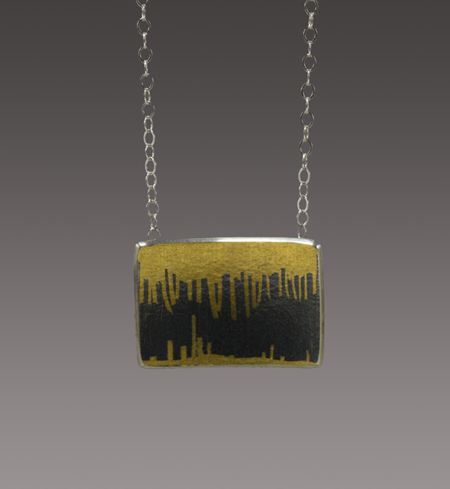 Stalagmite Necklace  sterling silver, gold