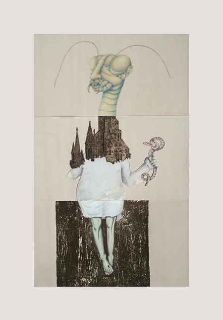 CORPSE 4: Allan Servoss, Paul Nitsche, and Theresa Abel $800 mixed media on paper
