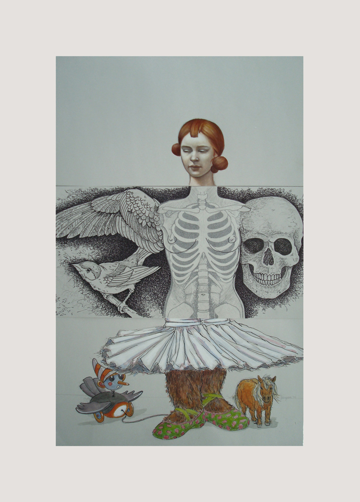 CORPSE 7: Kelli Hoppmann, Ryan Myers, and Chris Gargan $800 mixed media on paper