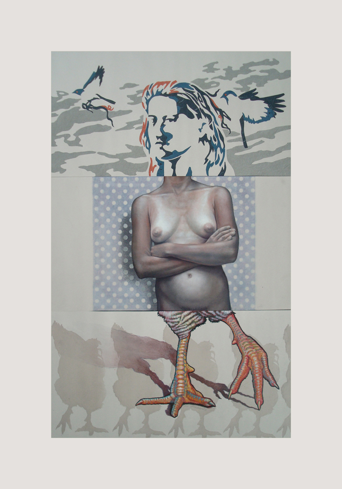 CORPSE 9: Deb Gottschalk, Gregory Schulte, and SV Medaris $800  mixed media on paper