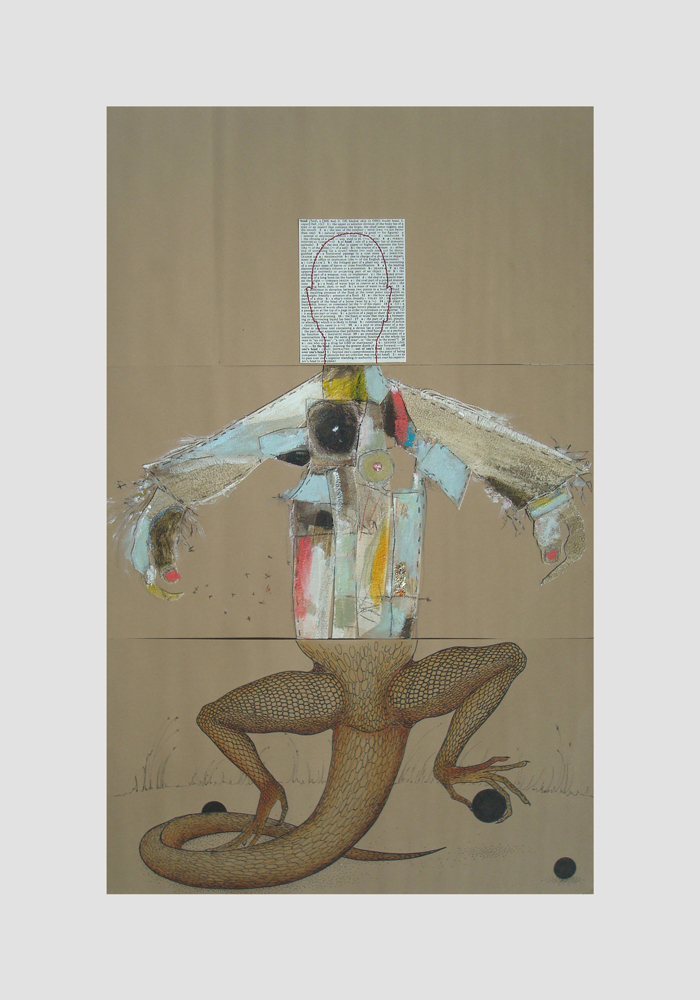 CORPSE 10: Erica Schlueter, Lori Schappe-Youens, and Briony Morrow-Cribbs $800  mixed media on paper