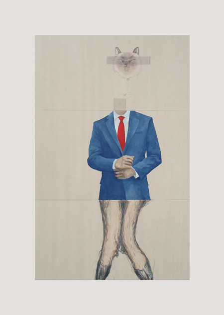CORPSE 13: Alejandra Perez, Ann Orlowski, and Jay Jensen $800  mixed media on paper