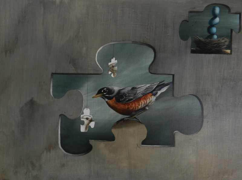 Robin's Puzzle $950 acrylic on panel