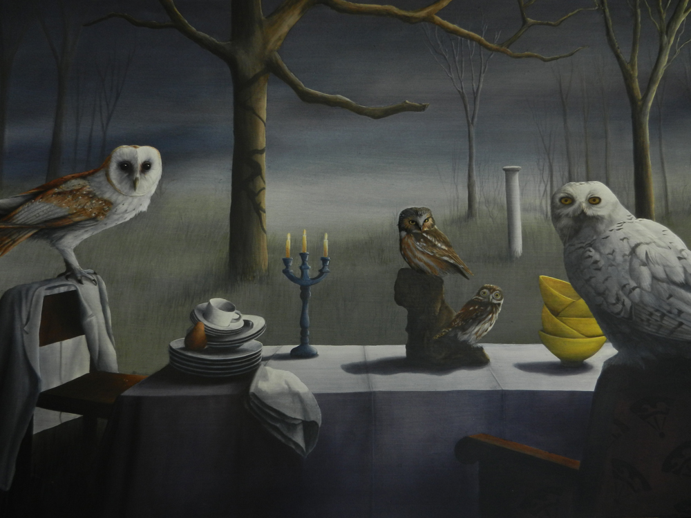 Night Owls SOLD acrylic on panel 24 x 30