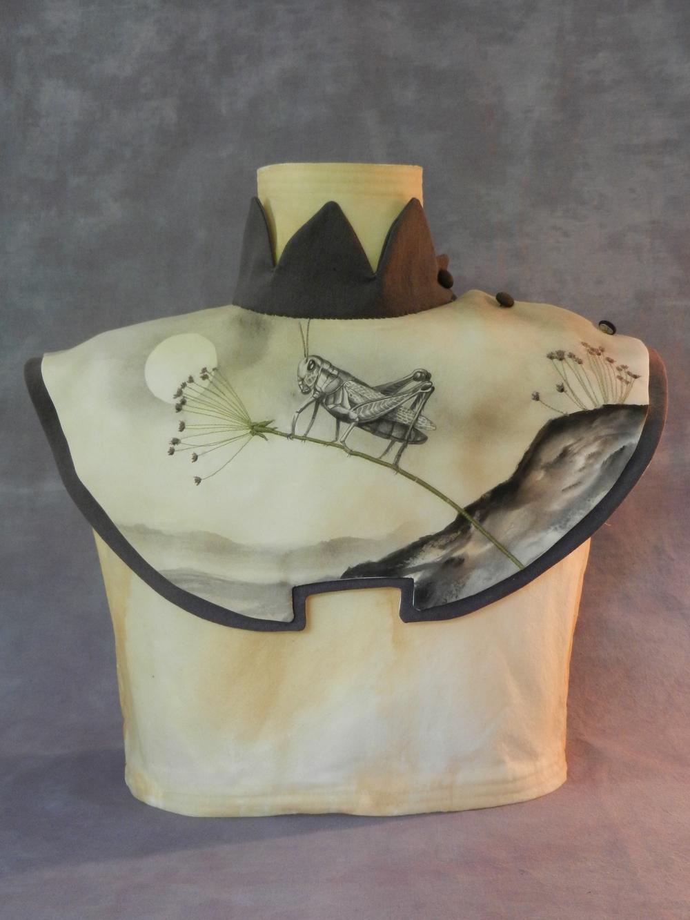 Grass Hopper Collar & Torso $1,800 textile 16 x 7 x 11