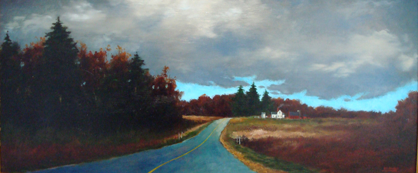 Highway 78 to Daleyville Oil on panel 17x33