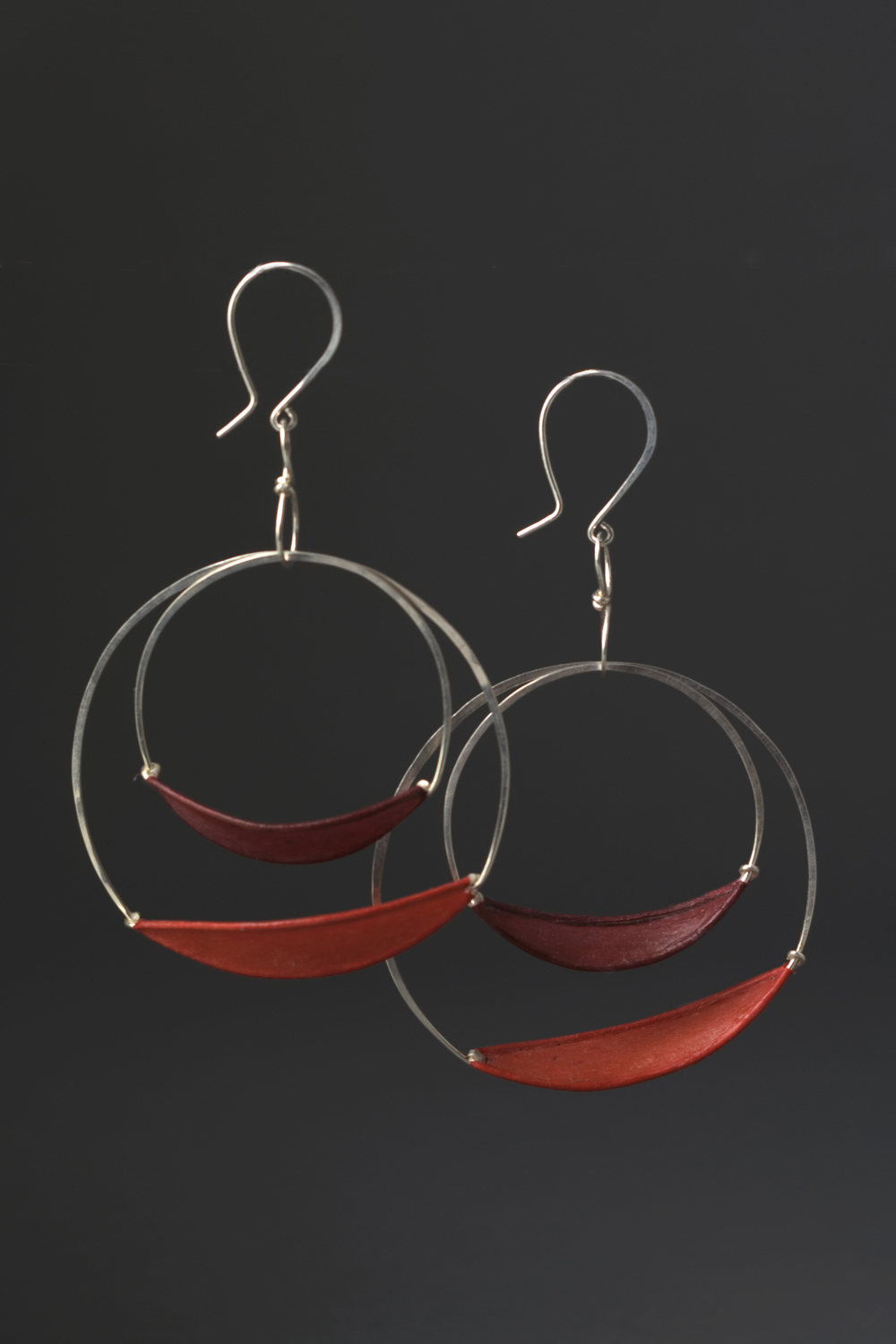 Suspended Double Slivers $178 sterling silver, handmade paper