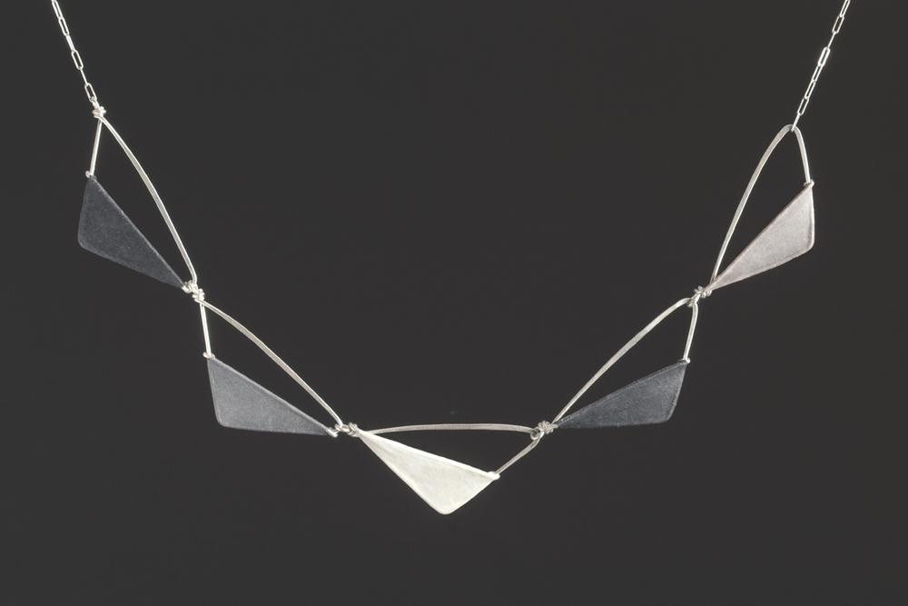 Elegant Sine Necklace $320  sterling silver, handmade paper