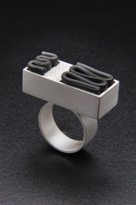 Paver Ring SOLD  inner tube, silver