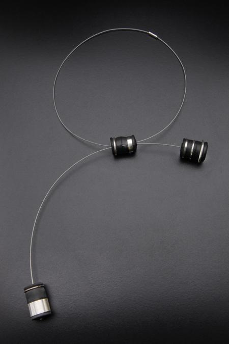 Rain Barrel Necklace $250  inner tube, silver