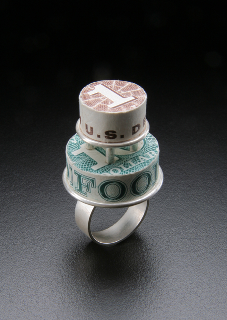 Let Them Eat Cake SOLD sterling silver, food stamps