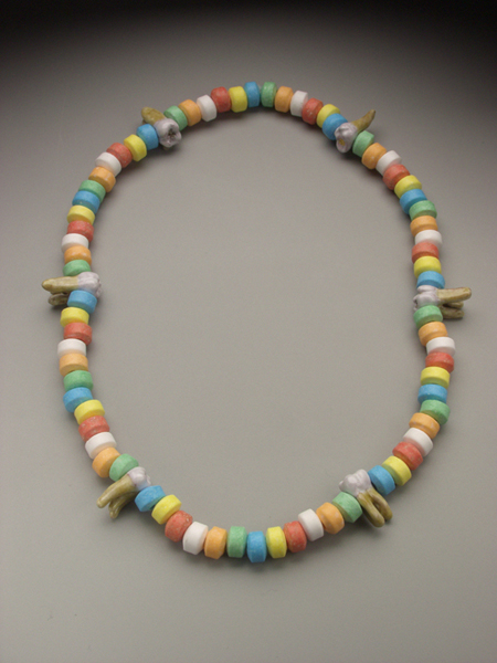 Candy Coated Cavities necklace, enamel