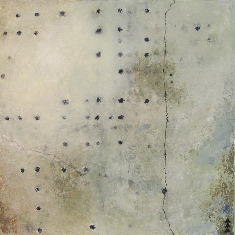 EMPHASIS V $500  acrylic on canvas 16 x 16 x 2